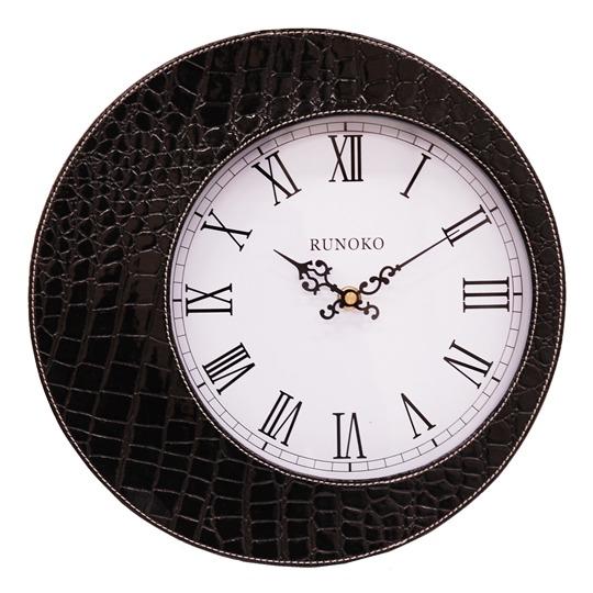 Кожаные часы настенные опт черные Днепропетровск