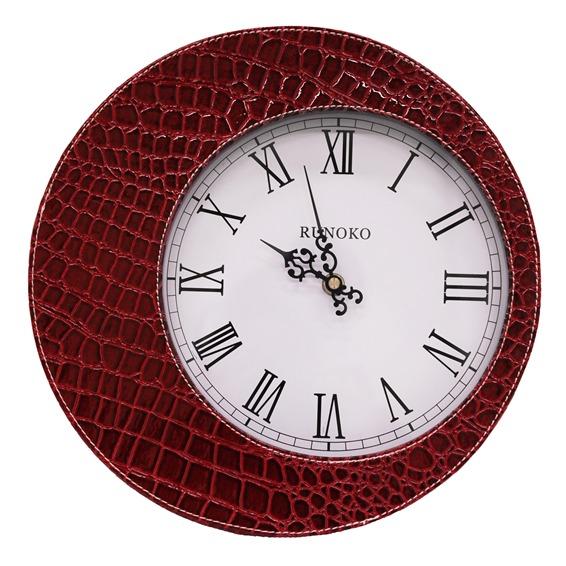 настенные часы красные крокодил опт Харьков