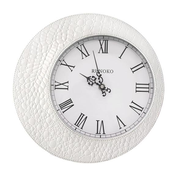 Кожаные настенные часы белые оптом Донецк
