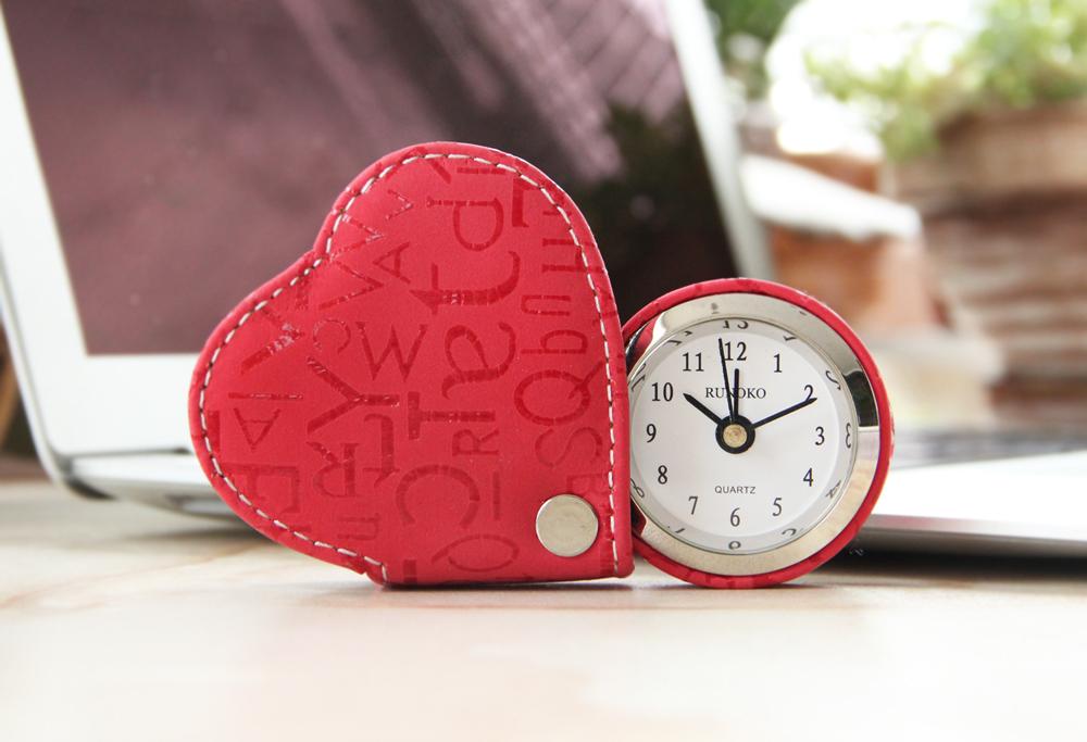Часики будильнички веселенькие на подарок Runoko Travel Clock Red